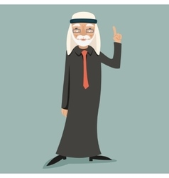 Old Adult Wise Vintage Arab Smiling Happy vector image vector image