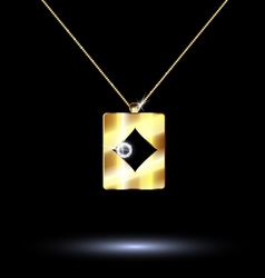 pendant card suit diamonds vector image vector image