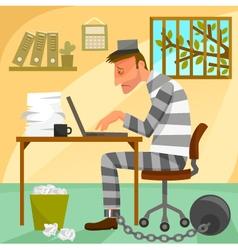 prisoner of work vector image vector image