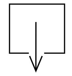 arrow direction down download icon vector image