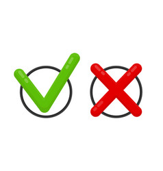 choose mark check mark icon red and green vector image