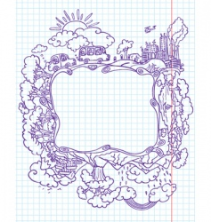 travel frame vector image