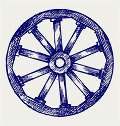 Wooden wheel vector image vector image