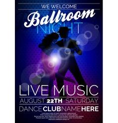 Ballroom Night Party Flyer design vector image