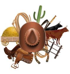 Cowboy Ranch Concept vector image vector image