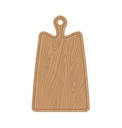 cutting board wooden kitchen plank kitchen vector image