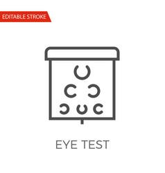 eye test icon vector image