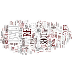 Golf terminology text background word cloud vector