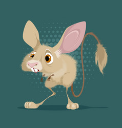 little funny jerboa vector image vector image