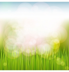 Natural spring background vector image vector image