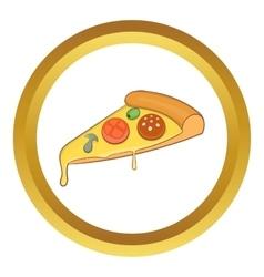 Pizza slice icon vector image vector image