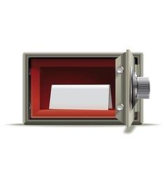 Safe deposit blank vector image vector image