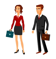 set characters design office team man women vector image vector image