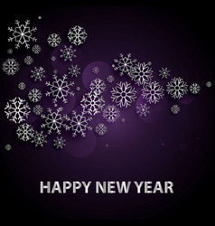 2018 happy new year background with silver letters vector image