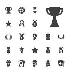 22 winner icons vector