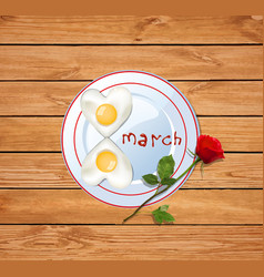 8 march with number eight shaped vector image