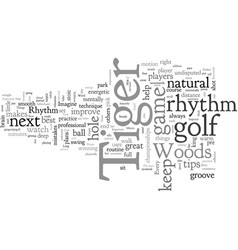 A few golf tips from tiger woods vector