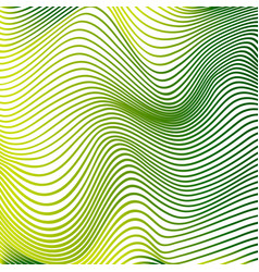 Abstract curve lines background yellow modern vector