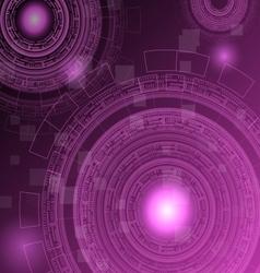 Abstract dark pink technology futuristic vector
