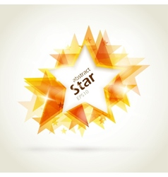 Abstract golden star vector