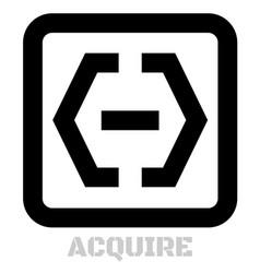 acquire conceptual graphic icon vector image
