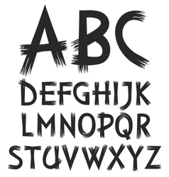 alphabet of letters drawn paint vector image
