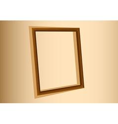An empty frame vector image