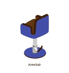 Armchair for beauty and hairdressing salons vector