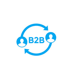 B2b icon on white vector