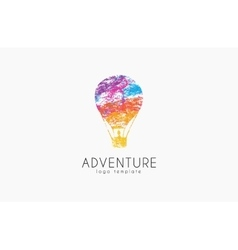 Balloon logo design Air balloon logo Adventure vector