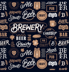 Beer brewery pattern vector