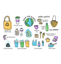 big set zero waste elements vector image