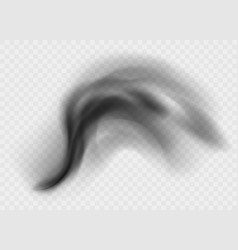 black smoke cloud isolated on transparent vector image