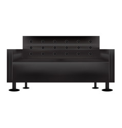 Black sofabed living room sofa with white vector