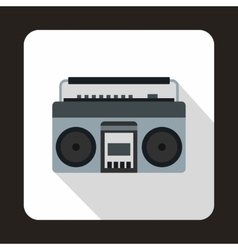 Boom box or radio cassette tape player icon vector