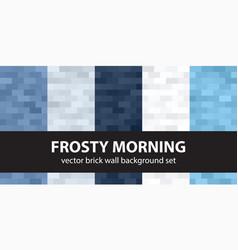 brick pattern set frosty morning seamless vector image
