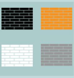 brick wall orange black white grey colour vector image