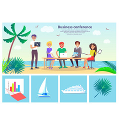 Business conference seaside vector