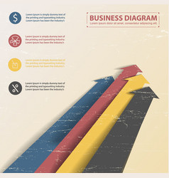 Business diagram template vector