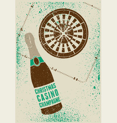 Casino christmas party typographic grunge poster vector