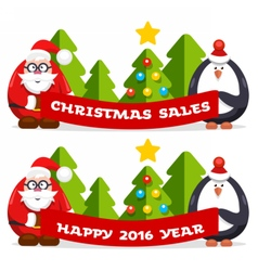 Christmas flat banner vector image