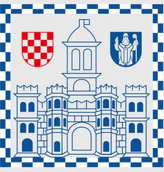 Coat of arms of split in split-dalmatia county of vector