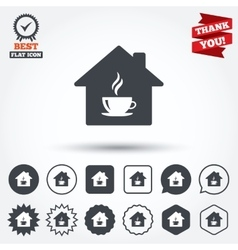 Coffee shop icon Hot coffee cup sign vector image