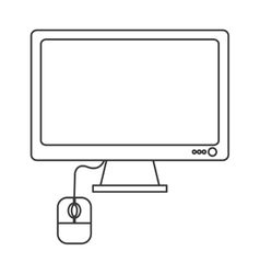 computer monitor and mouse icon vector image