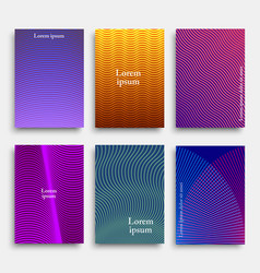 creative cover design with geometric line shapes vector image
