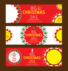 creative merry christmas marketing flyer design vector image