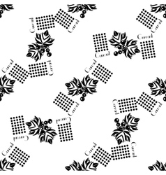 Currants seamless pattern black silhouette vector