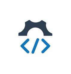 Custom coding icon vector