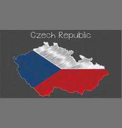 Czech republic map-flag vector