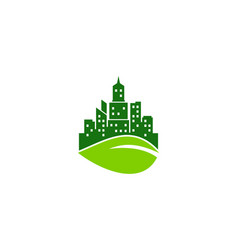 eco town logo icon design vector image